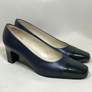 Etienne Aigner SARAH Navy Black 7.5M Leather Spain
